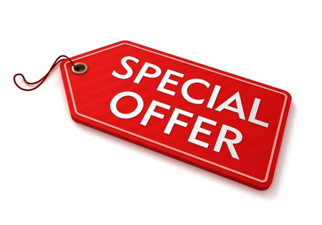 Bild Schild Special Offer mit Link zur Seite mit speziellen Angeboten