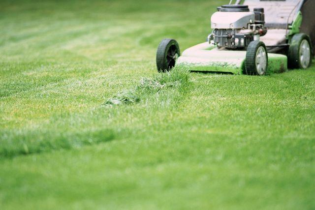 grass being mowed